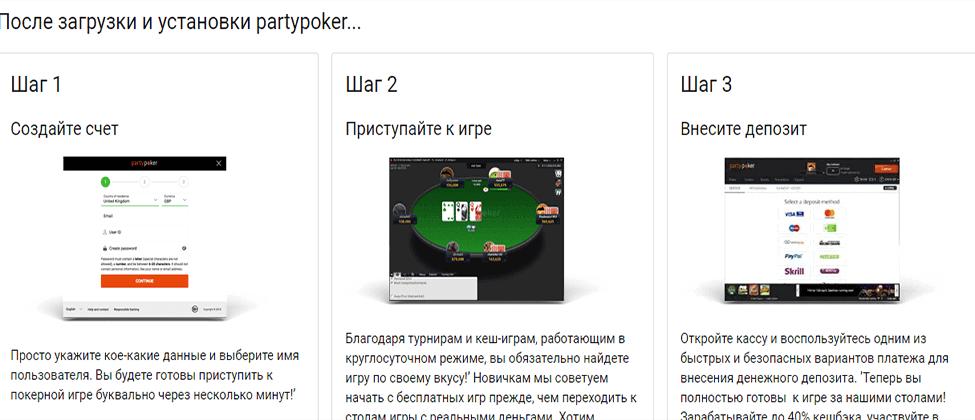 Дизайн и особенности мобильного приложения PartyPoker Украина