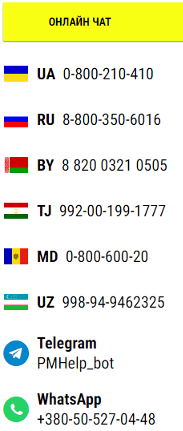 Служба поддержки клиентов Париматч Украина